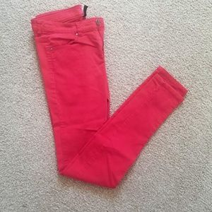 Divided/H&M red skinny jeans/jeggings size 8
